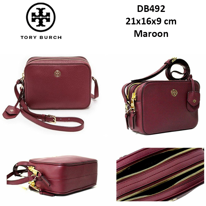 DB492 Tory Burch Robinson Pebbled Double Zip Crossbody Bag - SISBROW -  Firsthand Original Branded Bags with Lowest Price Ever!! a67fd29a1fbc1